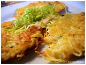 recette tchèque du bramborak ou galette de patate