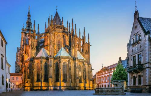 Cathédrale du chateau de Prague vue par Sylvain