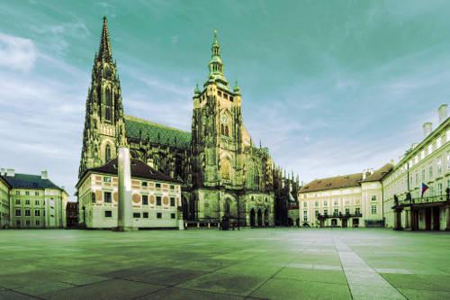 Chateau de Prague avec sa cathédrale