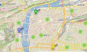 carte des meilleurs endroits de Prague
