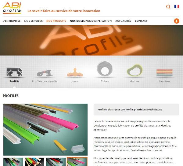 site du fabricant de profilés plastique ABI Profils